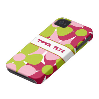 Green and Pink Flowers Case-Mate for Blackberry iPhone 4 Covers