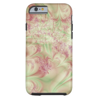 Green and Pink Fractal Swirl Tough iPhone 6 Case