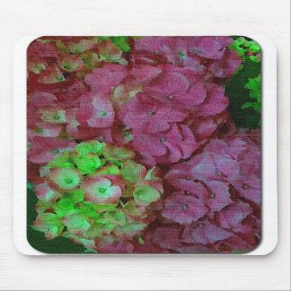 Green and Pink Hydrangeas Mousepads