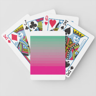 GREEN AND PINK OMBRE BICYCLE PLAYING CARDS