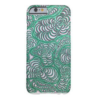 Green and Pink Spiral Amoeba Phone Case