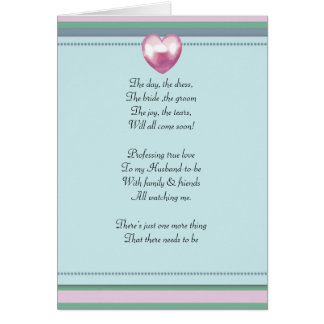green and pink striped Be my bridemaid card