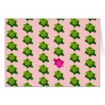 Green and Pink Turtle Pattern Card