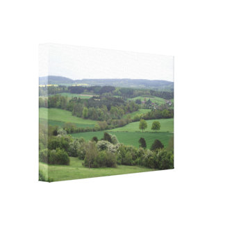 Green and Pleasant Land Stretched Canvas Print