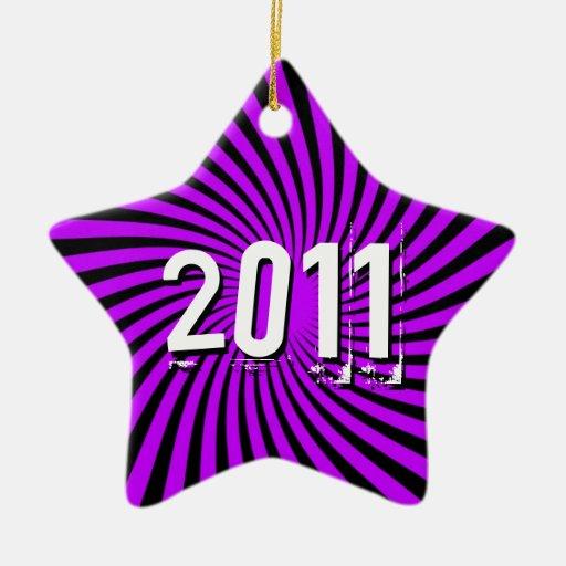 Green and Purple 2011 Ornament