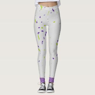 Green and Purple Confetti Leggings