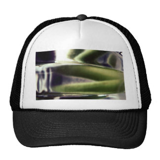 green and purple glass mesh hat