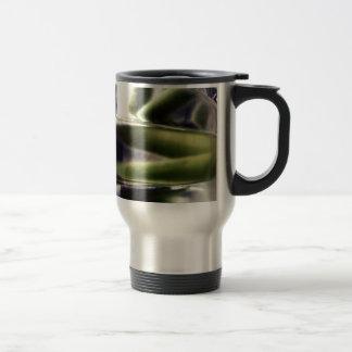 green and purple glass travel mug
