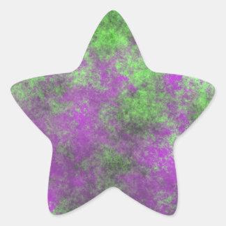 GREEN AND PURPLE GRUNGE STAR STICKER