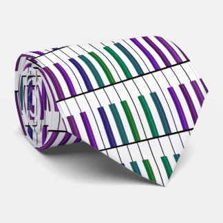Green and Purple Keys Keyboard Music Tie