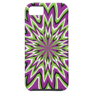 Green and purple optical illusion iPhone 5 cases