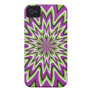 Green and purple optical illusion iPhone 4 covers