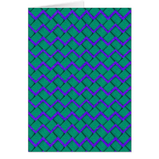 Green and Purple Paper Zig Zag Card