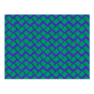 Green and Purple Paper Zig Zag Postcards