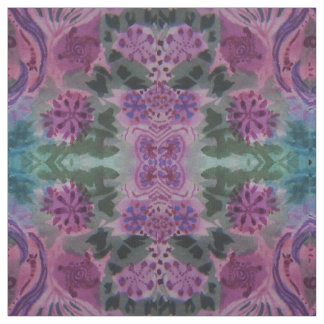 Green and Purple Pattern Fabric