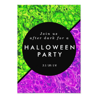 Green and purple slime Halloween invite
