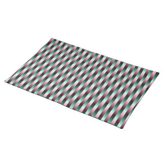 Green and Purple Stripes American MoJo Placemats