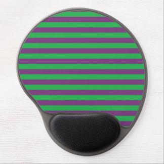 Green and Purple Stripes Gel Mousepad