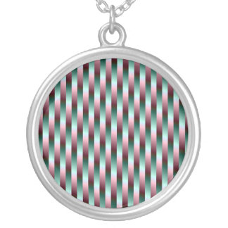 Green and Purple Stripes Necklace