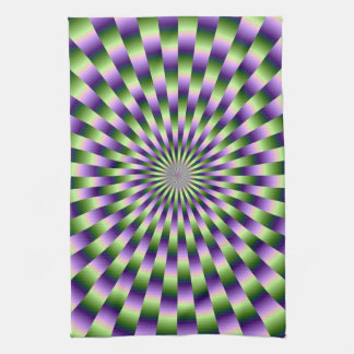 Green and Purple Weave Towel