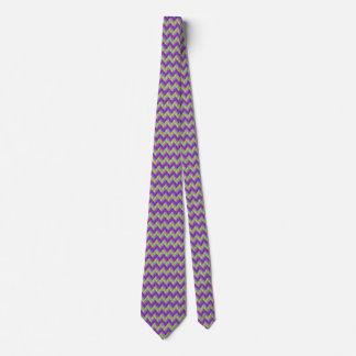 Green and Purple ZigZag Tie