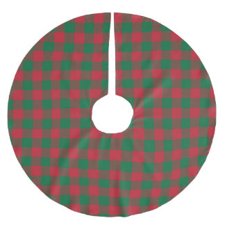 Green and Red Buffalo Plaid Tree Skirt