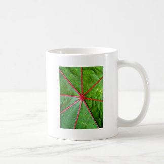Green and Red Castor Leaf Mugs