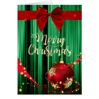 Green and Red Christmas Greeting Card