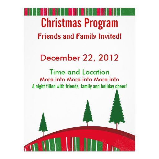 Green and Red Christmas Program Flyer