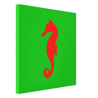 Green And Red Coastal Christmas Decor Seahorse