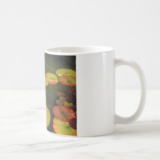 Green and Red Lilly pads Basic White Mug
