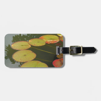 Green and Red Lilly pads Tag For Bags