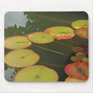 Green and Red Lilly pads Mouse Pad