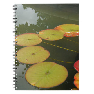 Green and Red Lilly pads Spiral Note Book