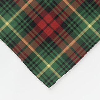 Green and Red Martin Clan Tartan Fleece Blanket
