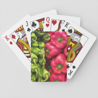 Green and Red Peppers Playing Cards
