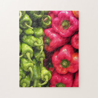 Green and Red Peppers Jigsaw Puzzle