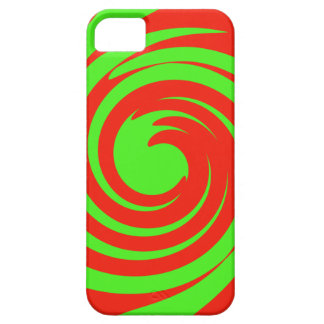 Green and red swirl iPhone 5 cover