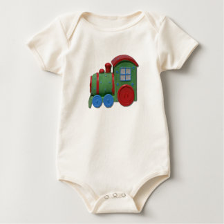 Green and Red Toy Train Shirt