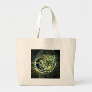 Green and serene in the black ring tote bag
