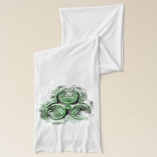 Green and Silver biohazard toxic warning sign Scarf