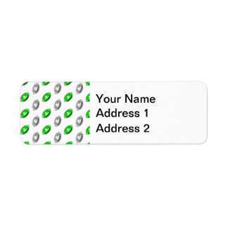 Green and Silver Football Pattern Return Address Label