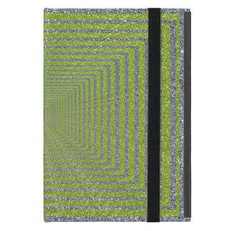 Green and Silver Sparkle Optical Illusion iPad Mini Case