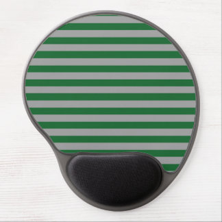 Green and Silver Stripes Gel Mousepad