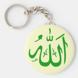 Green and Tan Allah Key-chain Key Ring