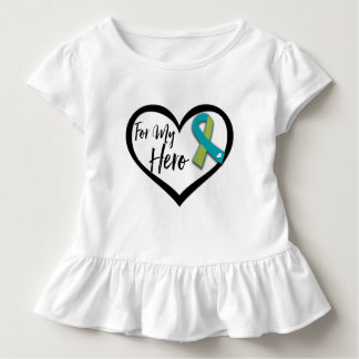 Green and Teal Ribbon For My Hero Tshirts