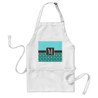 Green and Turquoise Polka Dots Standard Apron