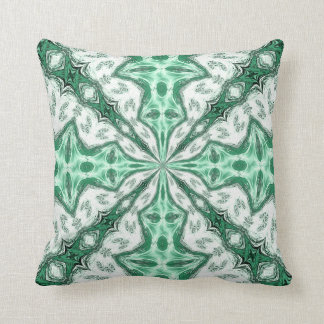 Green and White Abstract Design American MoJo Pill Throw Pillow