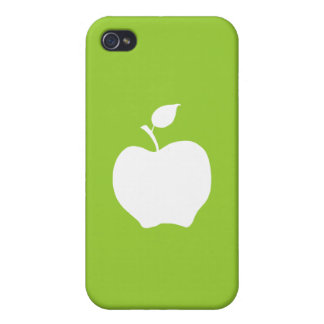 Green and White Apple Case For The iPhone 4
