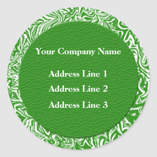 Green and White Business Address Lables Stickers